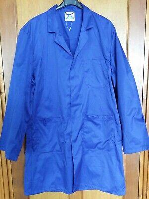 Blue Castle  Laboratory Lab Store Coat / Cow Gown /work  Jacket  Royal Blue