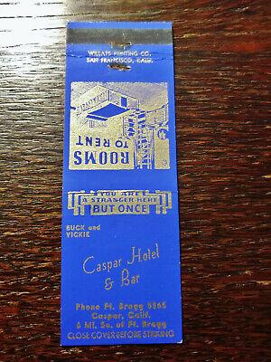 Vintage Matchcover: Caspar Hotel & Bar, Caspar, CA 16