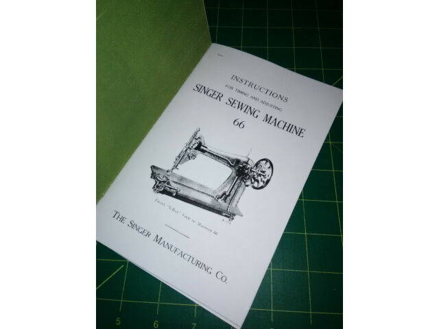 Singer 66 Sewing Machine  Adjusters Manual (Class 66) Reproduction