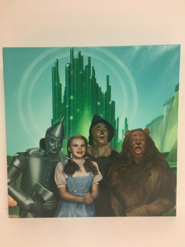 The Wizard of Oz Four Friends and Emerald City Stretched Canvas Wall Art, NEW