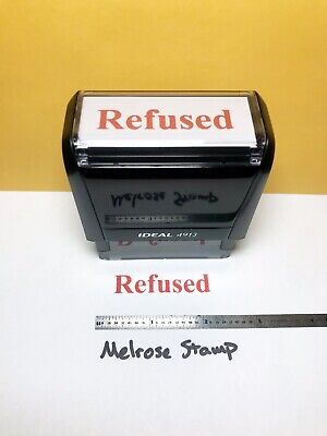 Refused Rubber Stamp Self Inking Red Ink Ideal 4913