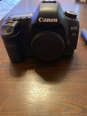 Canon EOS 5D Mark II 21.1MP Digital SLR Camera - BLK W/ 2 Batteries And SD Card
