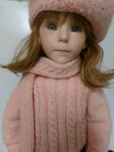 """KAISER Chicago Vintage Collectible Doll 25"""" tall on the stand"""