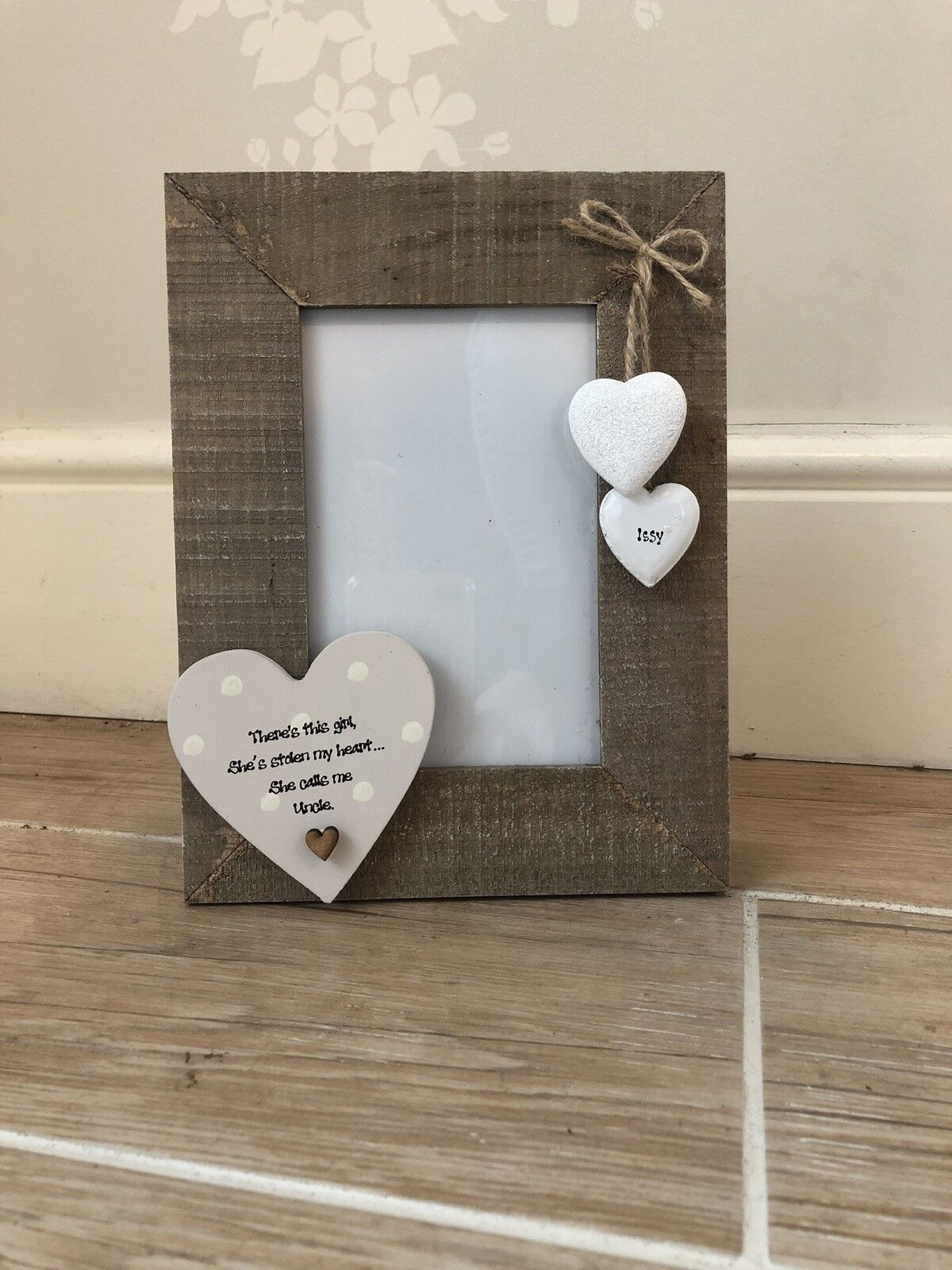 Shabby personalised Chic Photo Frame UNCLE  ~ Great Uncle Present Birthday Xmas
