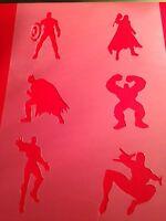 Avengers Stencil Template Hulk Batman Thor Paint Craft Fabric Airbrush 3 Inch -  - ebay.co.uk