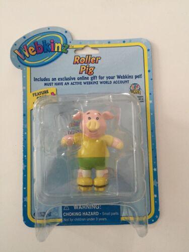 GANZ Webkinz Roller Pig Figure with Code Enclosed