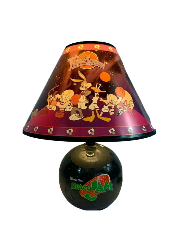 Vintage Rare Warner Bros. Space Jam Ceramic Lamp Original Packaging Looney Tunes