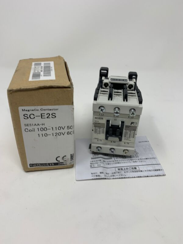 Fuji Electronic SC-E2S/G SE51AG IEC Relay Module 24VDC 50A Magnetic Contactor