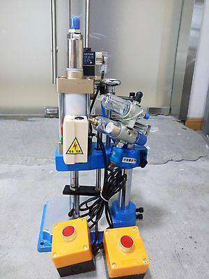New Pneumatic Press Machine Small Desktop Punch Machine Press 110v