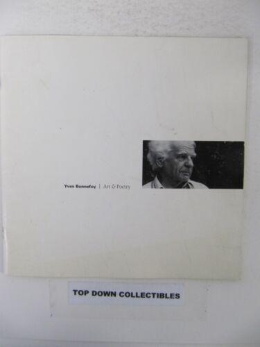 Yves Bonnefoy  Art & Poetry    1995