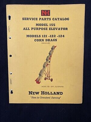 New Holland Service Parts Catalog 155 Elevator 121-124 Corn Drags 1959 1377