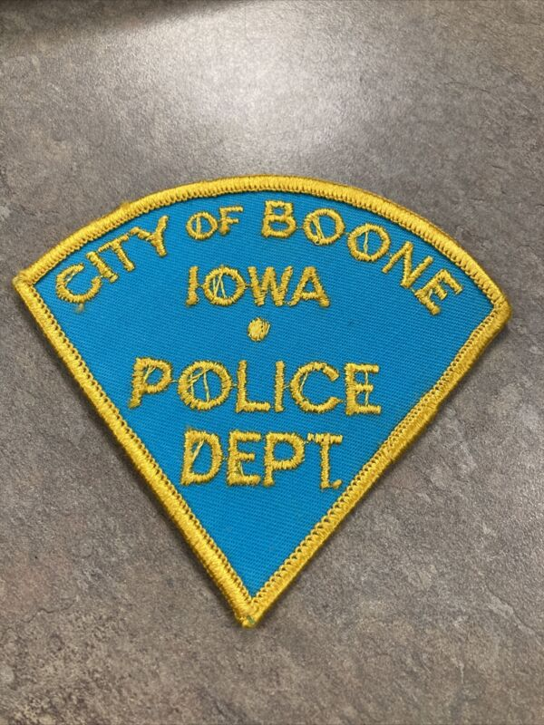 Vintage City of Boone Police Iowa IA Patch