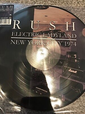 RUSH – ELECTRIC LADYLAND NEW YORK CITY '74 PICTURE DISC VINYL LP Brand New