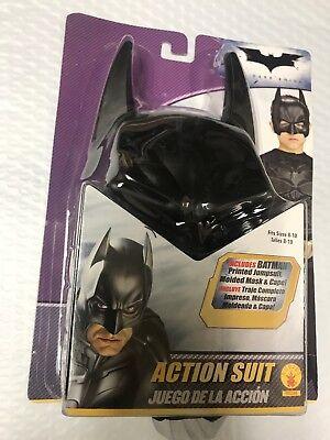 Batman Kids Suit (Rubies Batman Dark Knight Action Suit Child(8-10) Jumpsuit, Molded Mask,)