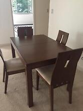 An extendable dining table set with 4 chairs St Ives Ku-ring-gai Area Preview