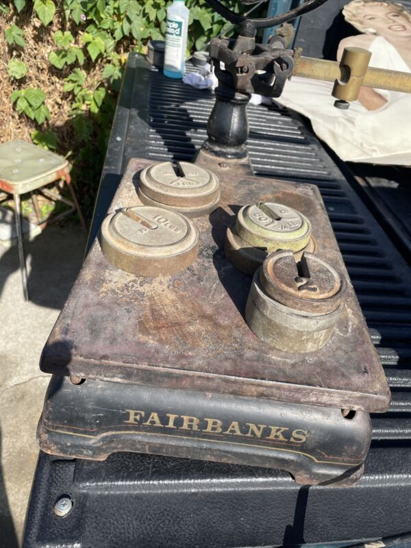Vintage Fairbanks Scale Complete Up To 250 Pounds
