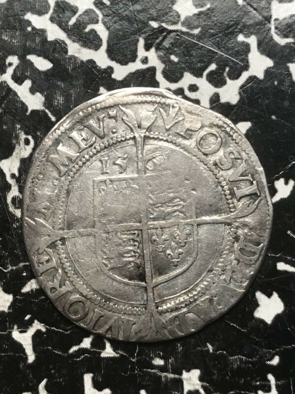 1561 Great Britain 6 Pence Sixpence Lot#1059 Silver! Elizabeth I