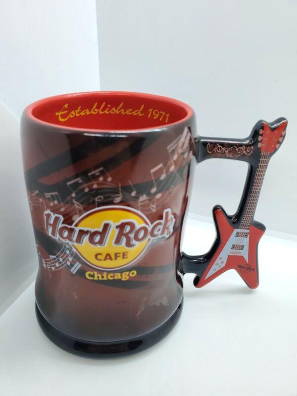Hard Rock Cafe Chicago Flying V Guitar Handle Mug