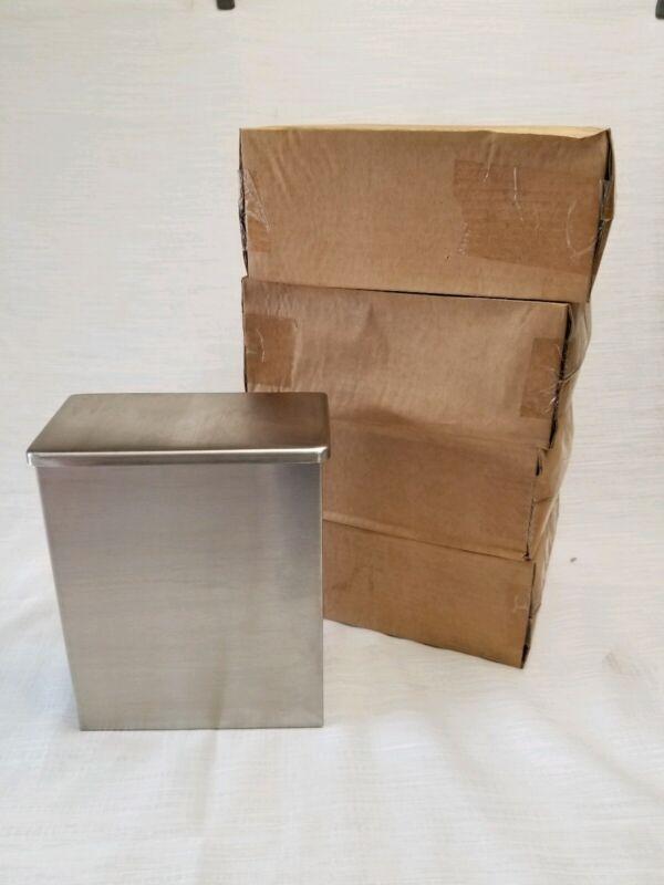 4 ASI 0852 Sanitary Napkin Tampon Disposal Trash Waste Receptacle stainless stel
