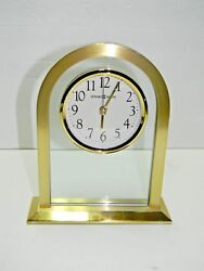 Howard Miller 645-574 Imperial Quartz Bright Brass Table, Shelf Or Desk Clock