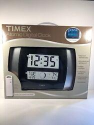 Timex Atomic Digital Clock Temperature Moon Phase Calendar Backlight