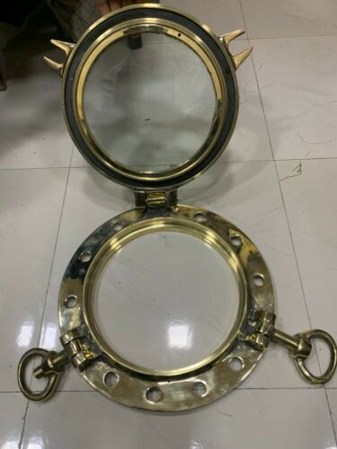 Nautical marine ship brass window new porthole 2 key lot of 1 piece