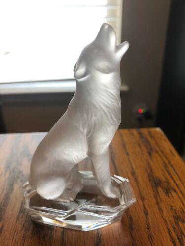 RARE Goebel Crystal Collection Wolf Figurine