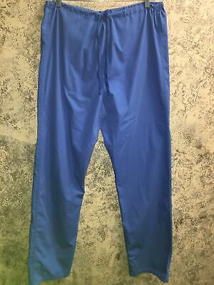 LANDAU 7602 BEP medical dental nurse scrub pants unisex L Tall reversible blue Bep Landau