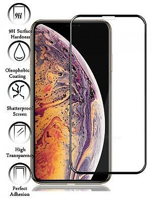 Protector de Pantalla para Iphone XR Negro Completo Cristal Templado Curvo 3D
