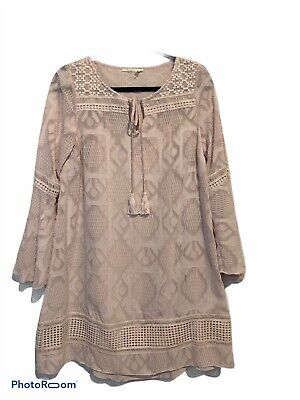 Floreat Esme Bell Sleeve Dress Pink Size 6