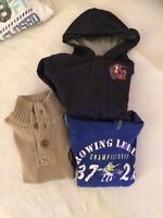 Pullover, Kapuzenjacke, Kapuzenpullover Gr.- 116, zus. 12.-