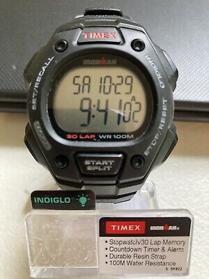 Timex Men's Watch T5K822 Ironman 30-Lap Resin Alarm Indiglo Chrono. BRAND NEW!!!