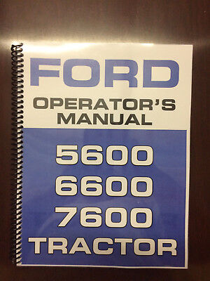 Ford 5600 6600 7600 Tractor Operators Manual Owners Manual Supplement