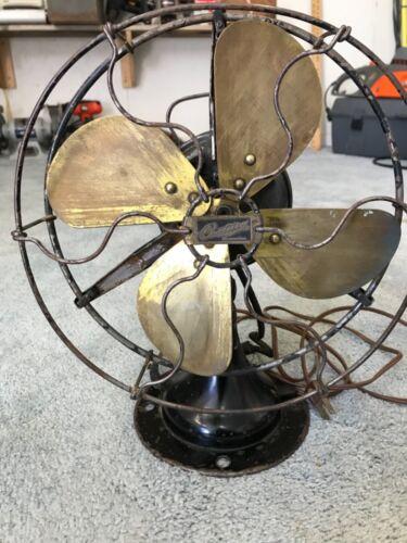 Antique CENTURY Oscillating Brass Blade FAN