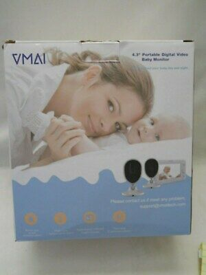 Baby Monitor, 4.3'' Video Baby Monitor with 2 Cameras, Night Vision