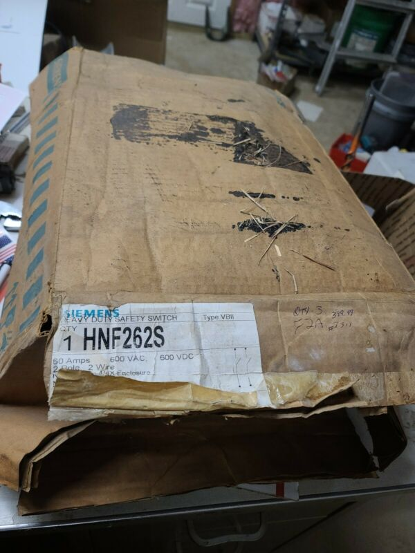 Siemens Hnf262s 60 Amps Ac 600vac Single Throw Safety Switch #7311