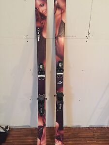 Head 166 skis and boots