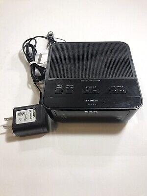 Philips FM Dual Alarm Clock Radio AJ3116M Black - Free Shipping