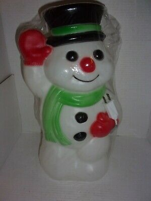 """1996 NEW SEALED Empire Snowman Blow Mold Lawn Decoration 17 1/2"""""""