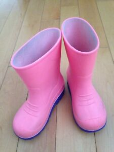 Size 8 Toddler girl pink rain boots