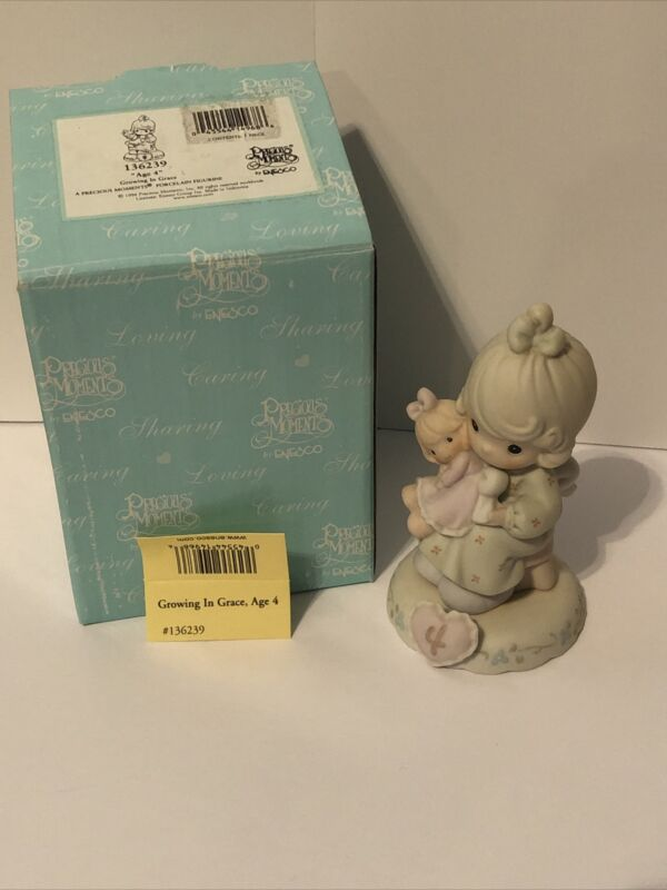 1994 Enesco Precious Moments Growing in Grace Girl & Doll Age 4 #136239 WITH BOX