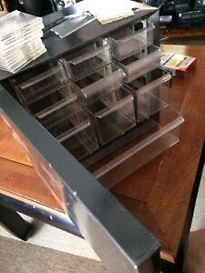 Very rare Vintage-Akro-Mils-Metal-10-Drawer-Storage-Cabinet