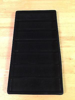Black Velvet Lined Plastic Jewelry Insert-tray Liner Only- Set Of 3