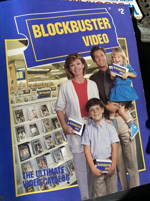 Vintage BLOCKBUSTER Ultimate Video Catalog VHS Movie Rental 1987