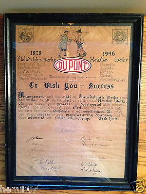 "1946 Philadelphia Works/Houston Works/DuPont ""To Wish You Sucess"" Letter"