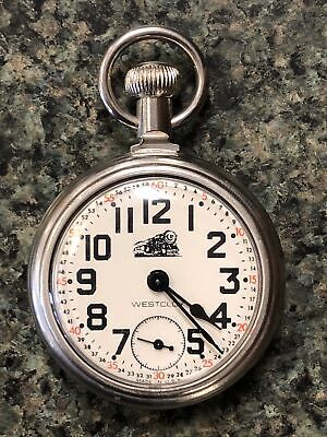 Vintage Westclox Railroad Small Second Hand-Winding Mechanical Pocket Watch Hour