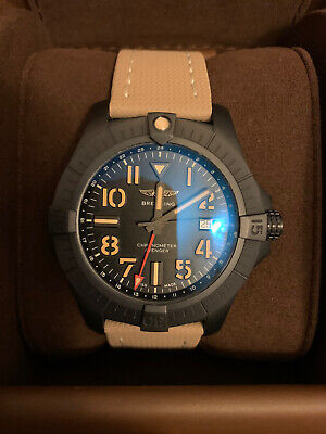 Breitling Avenger ii Night Mission 45mm Titanium Black w/ Unworn Leather Strap