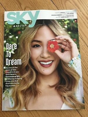 Delta Airlines Sky Magazine August 2018 Constance Wu Zimmern Crazy Rich Asians
