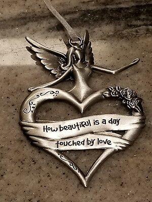 Angel & Heart Shaped Ornament by Ganz EL4815