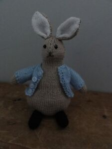 Hand Knitted - New - Rabbit Soft Toy